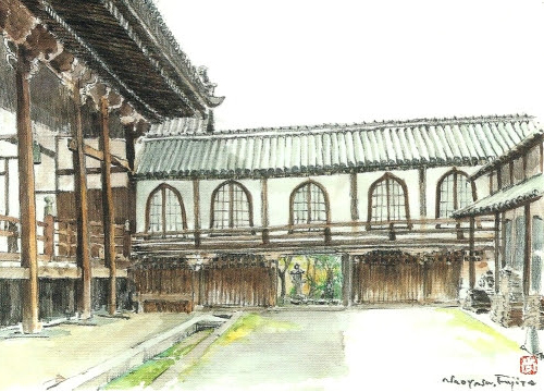 顕証寺の渡廊(八尾市指定文化財
