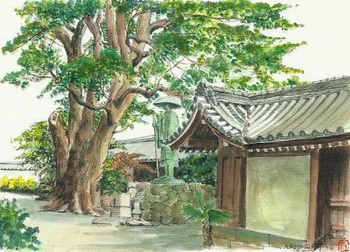顕証寺の築地壁(八尾市指定文化財)