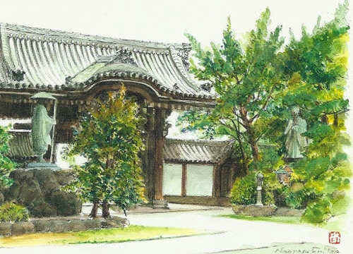 顕証寺の山門(八尾市指定文化財)