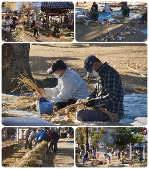 許麻神社でのしめ縄作り