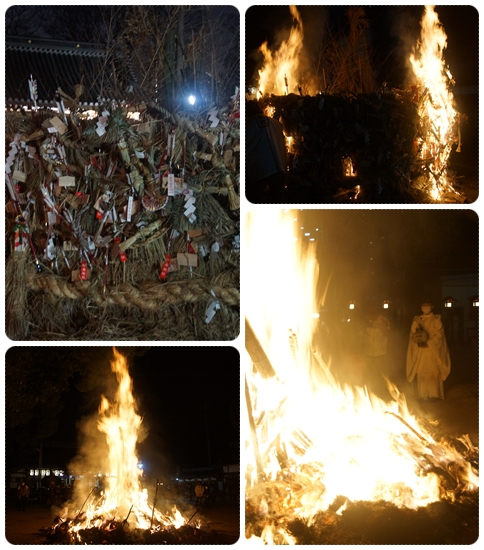1/14 許麻神社「とんど祭」が実施されました