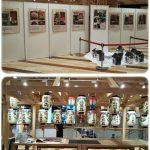 アリオ八尾の3階カワチラボで久宝寺寺内町の地蔵尊の写真展が25日まで行われています。