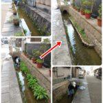12/8・9 大水路の清掃活動をしました