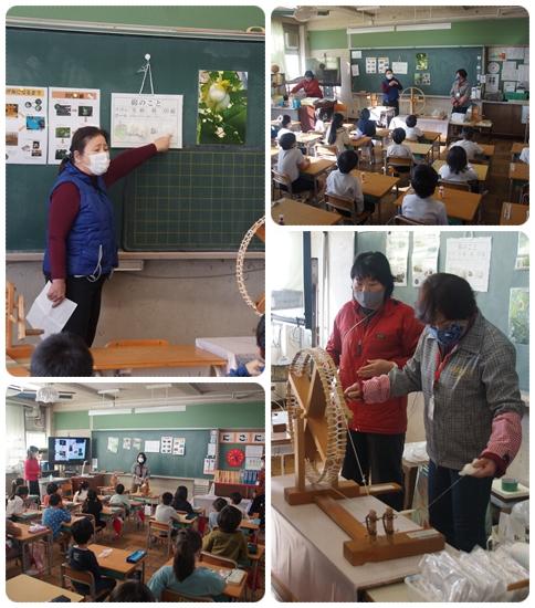 1/15 河内木綿の出前授業に行きました